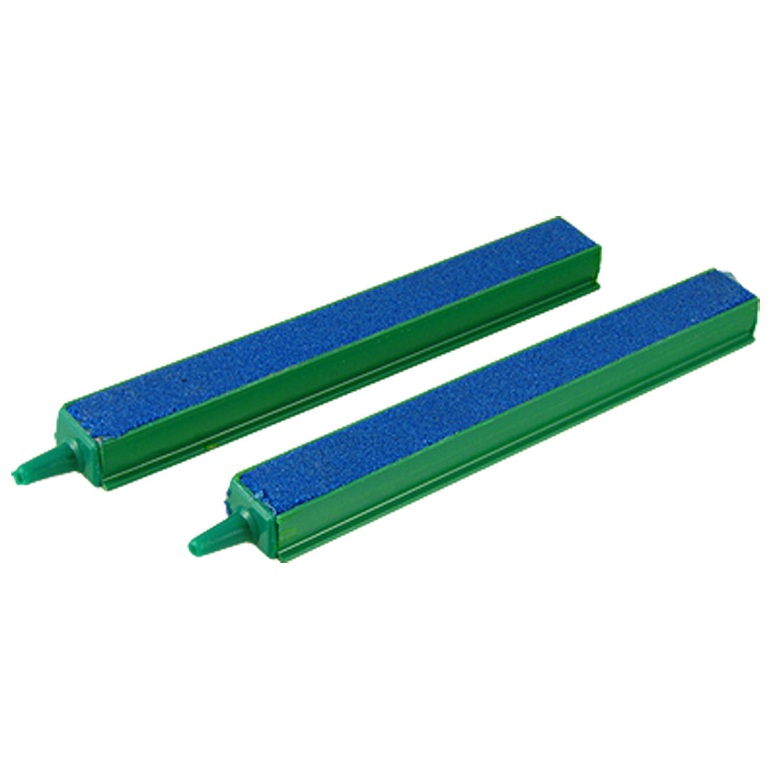 "Aquarium Fish Tank Green Plastic Outlet Connector 6"" Blue Air Stone Bar 2 Pcs"