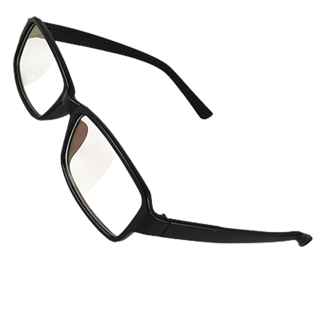 Lady Shine Black Plastic Frame Rectangle Multi Coated Lens Plano Glasses