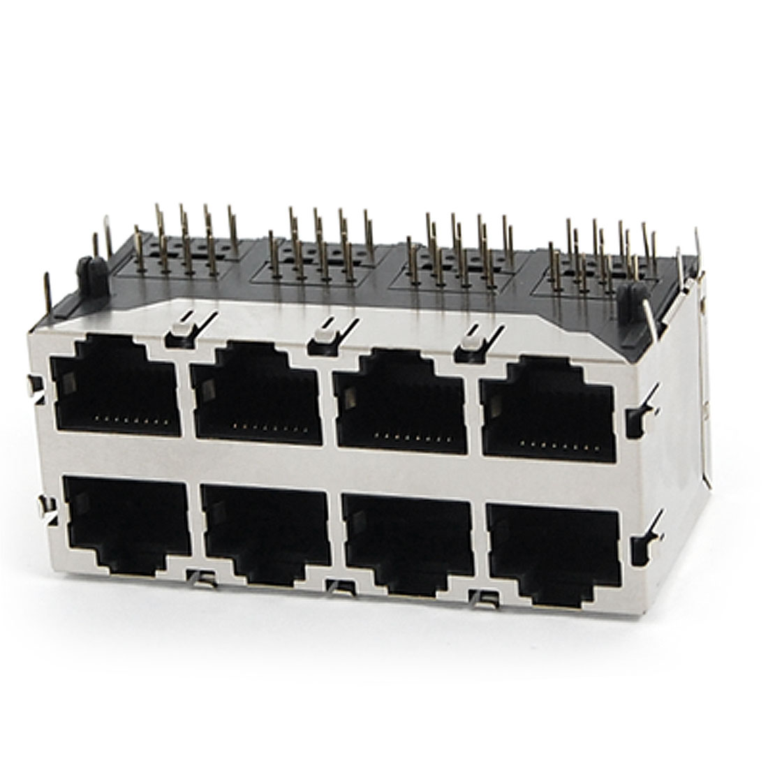 59-8P 2x4 Ports RJ45 Modular PCB Jack Network Computer Connector