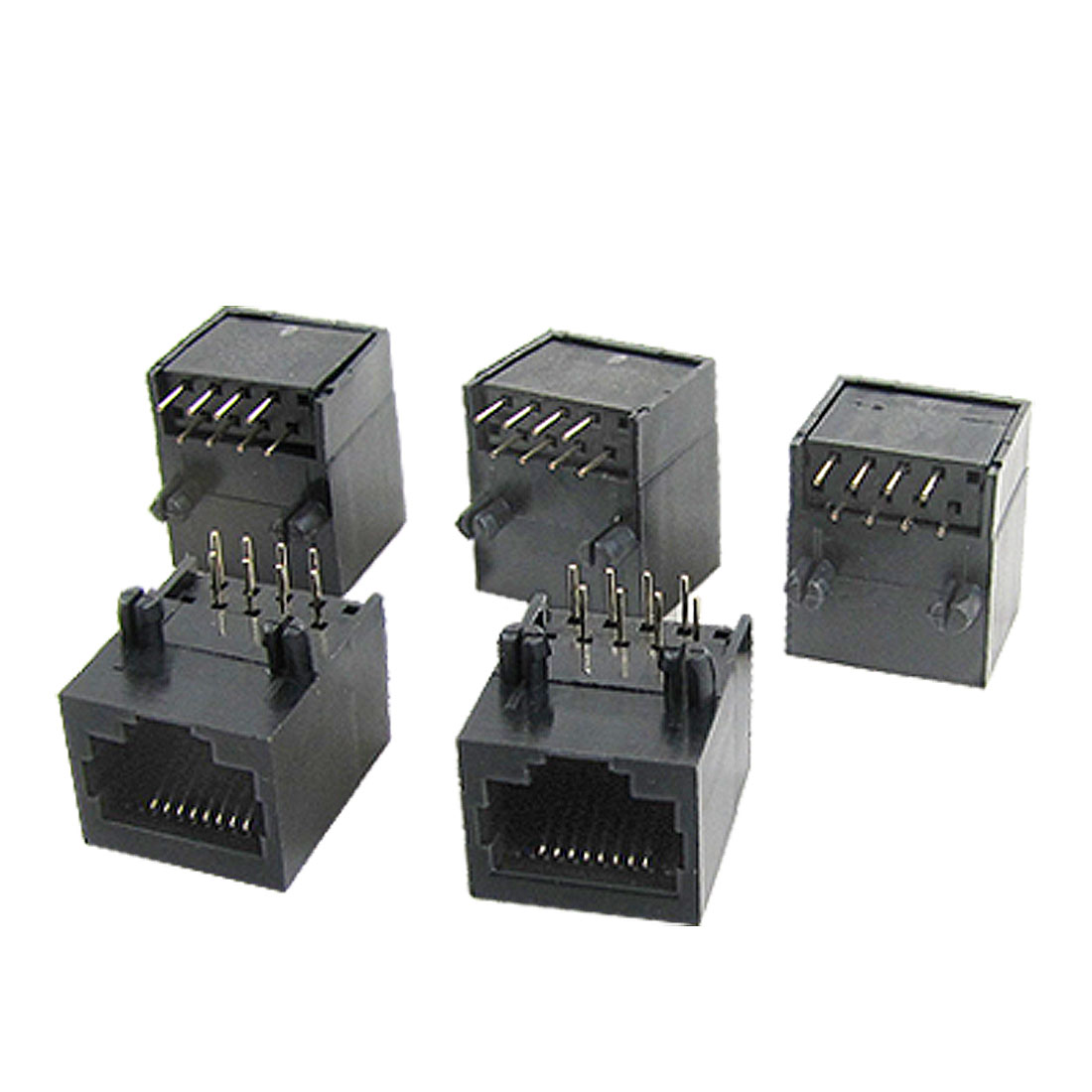 56-8P8C 8 Pin Shielded Modular Computer Network Jacks Connectors 5 Pcs