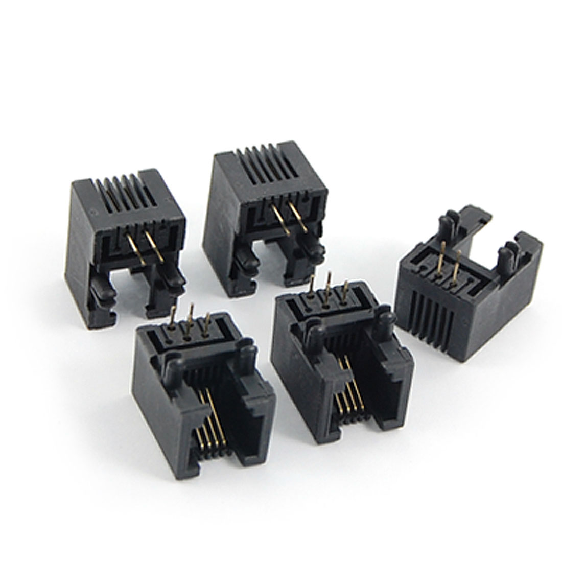 6P4C RJ11 Telephone Modular Jack PCB Contectors 5 Pcs