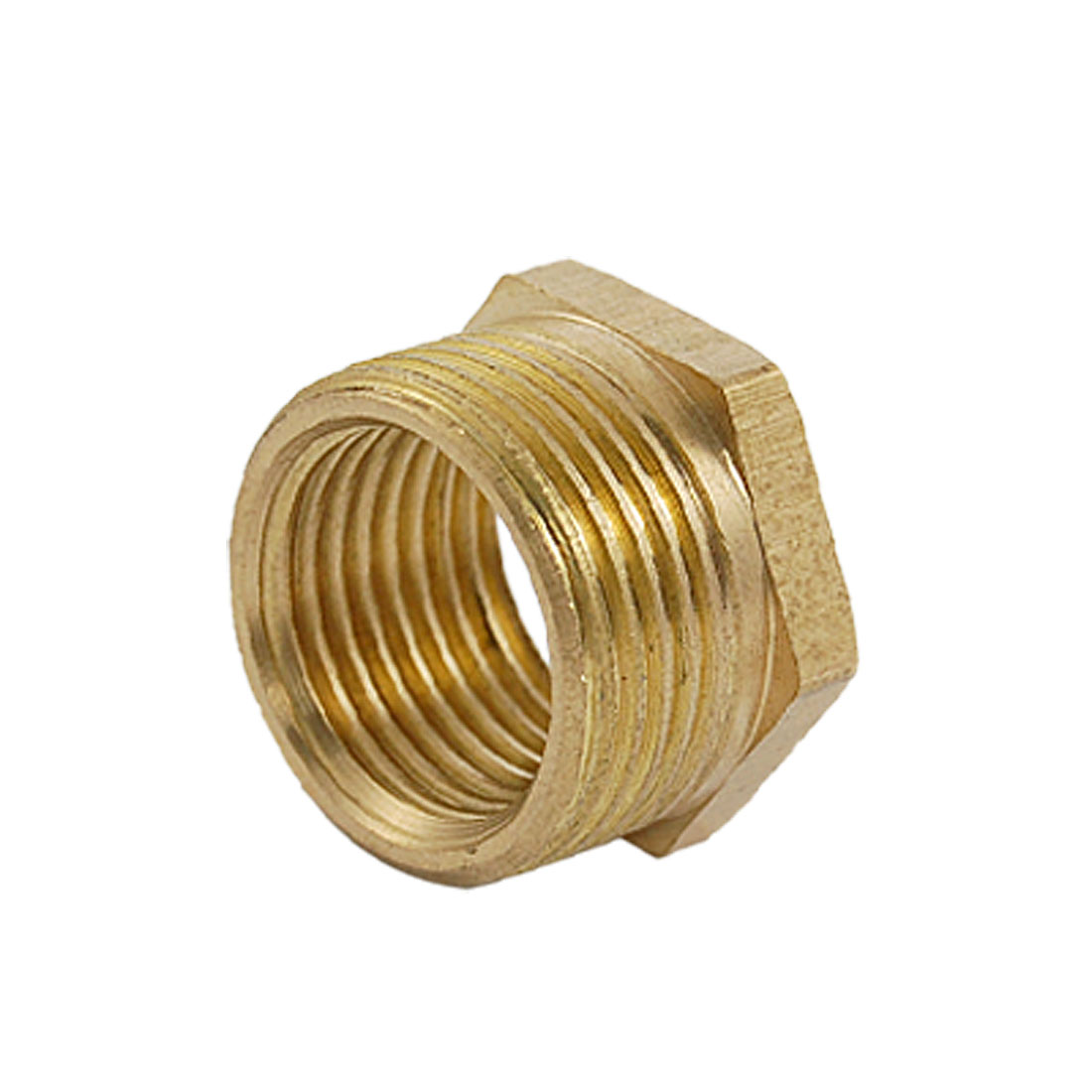 15.1 x 20mm M/F Thread Hexagon Brass Pipe Nipple Fitting