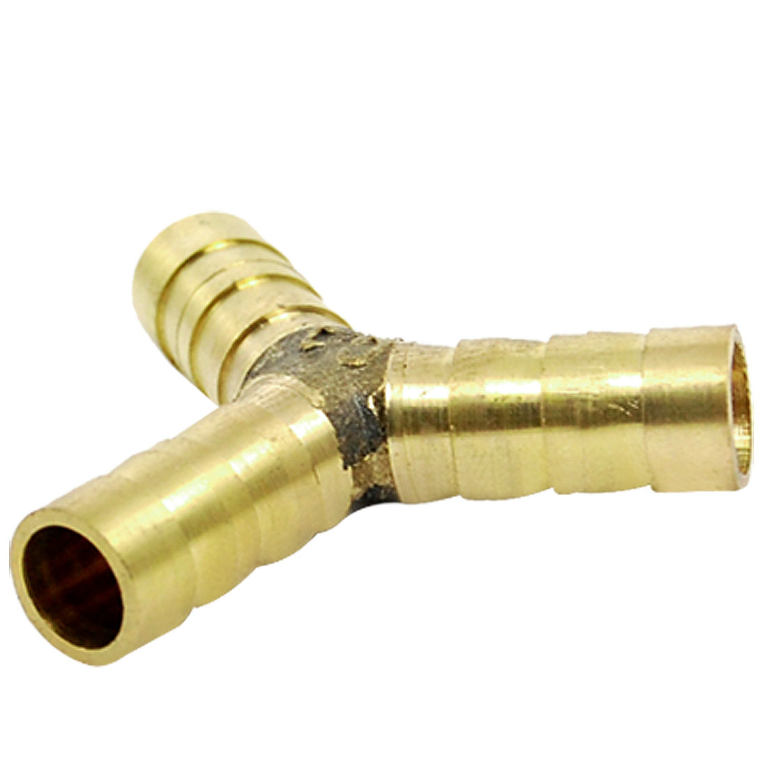 10mm Brass Barbed 3 Way Y Shaped Fuel Hose Connector