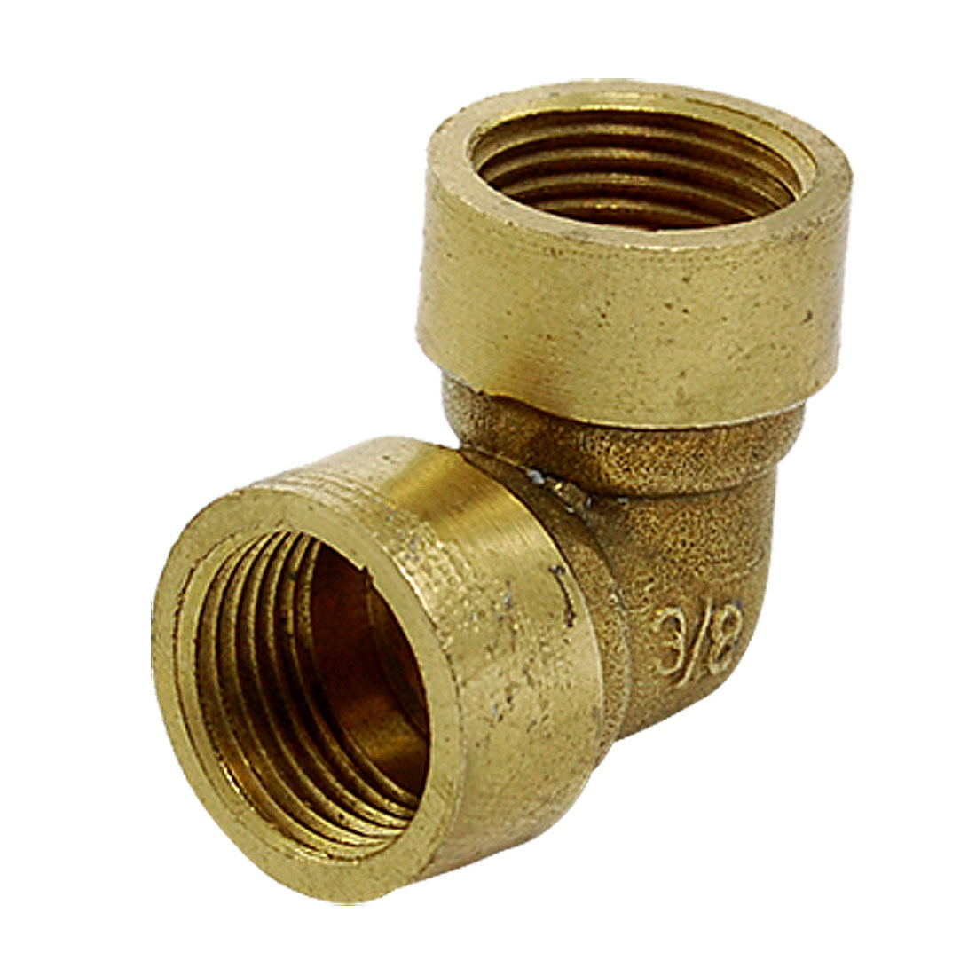 Gold Tone Water Pipe Fittings 15mm 90 Degree Brass Female Elbow