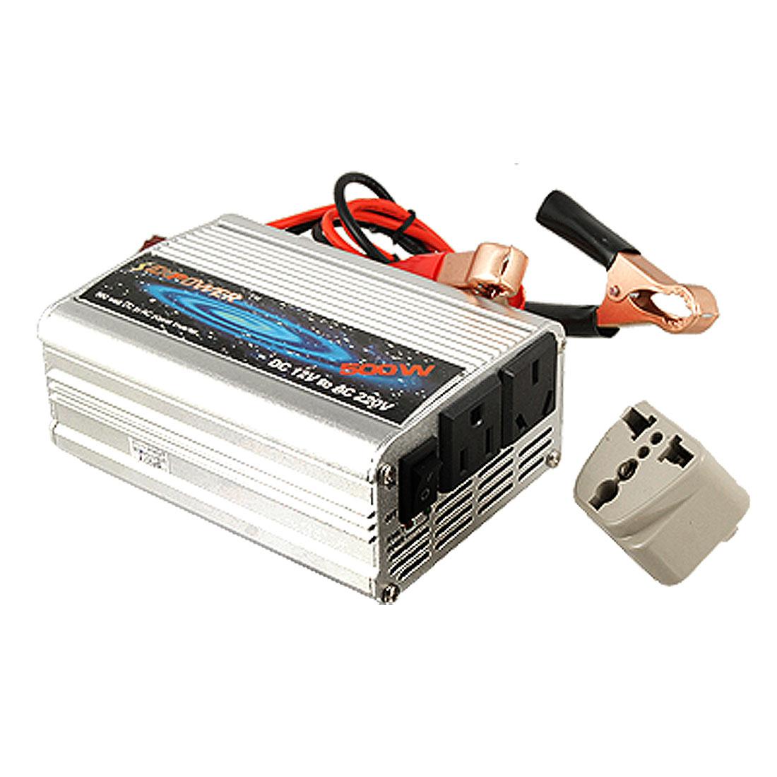 Auto Car DC 12V to AC 220V Power Inverter Adapter 500W
