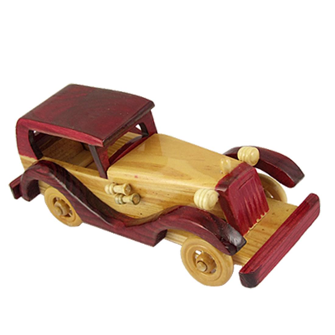 Desk Table Burgundy Wood Color Jalopy Car Model Decor