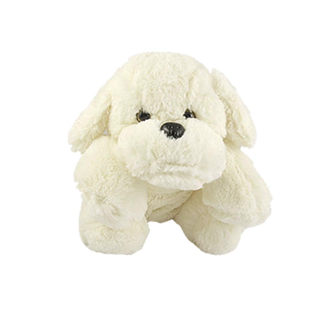 Family Kids Animal Doll Fragrant Off White Plush Dog w Plastic Collar