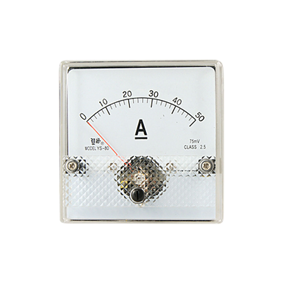 Analogue DC 0-50A Current Panel Ammeter Amperemeter Gauge YS-80