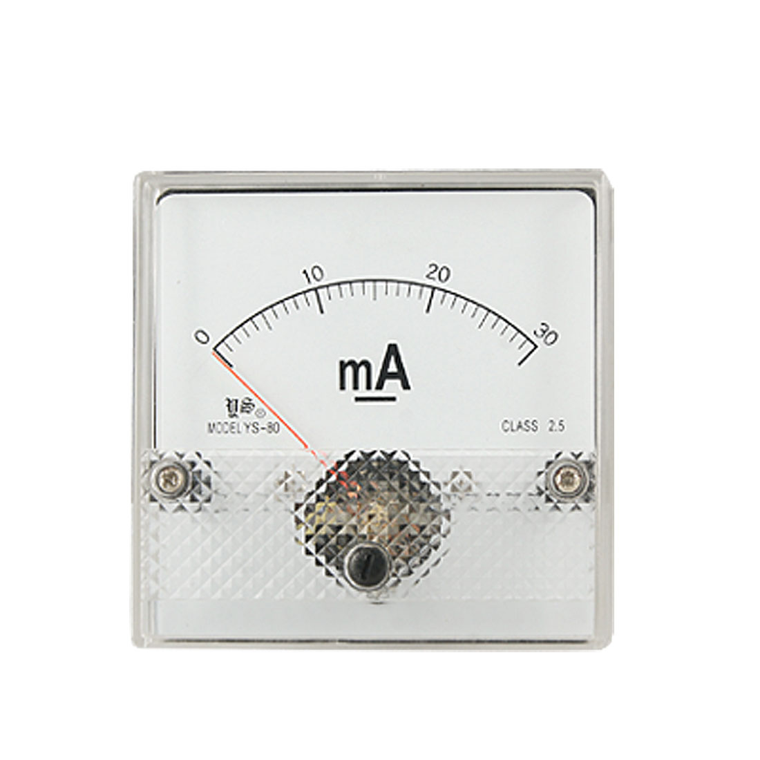 DC 0-30mA Current Panel Ammeter Gauge Class 2.5 YS-80