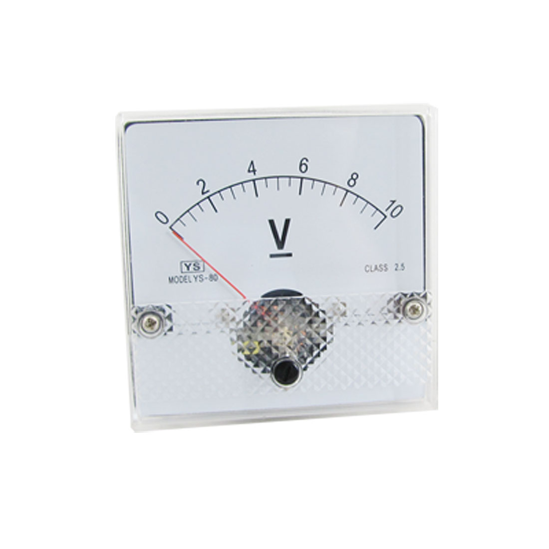 DC 10V Fine Adjustable Dial Voltage Meter + Installing Parts