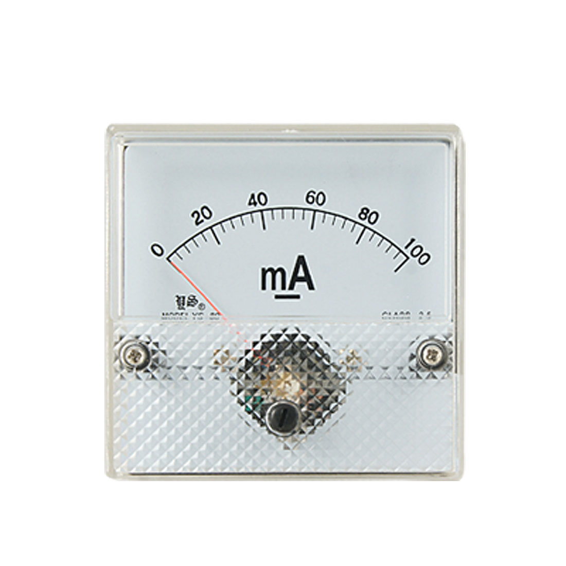 YS-80 DC 0-100mA Current Panel Meter Class 2.5 Analogue Amperemeter