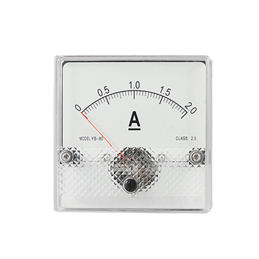 YS-80 Analogue DC Current Aquare Panel Meter Amperemeter Gauge 0-2A