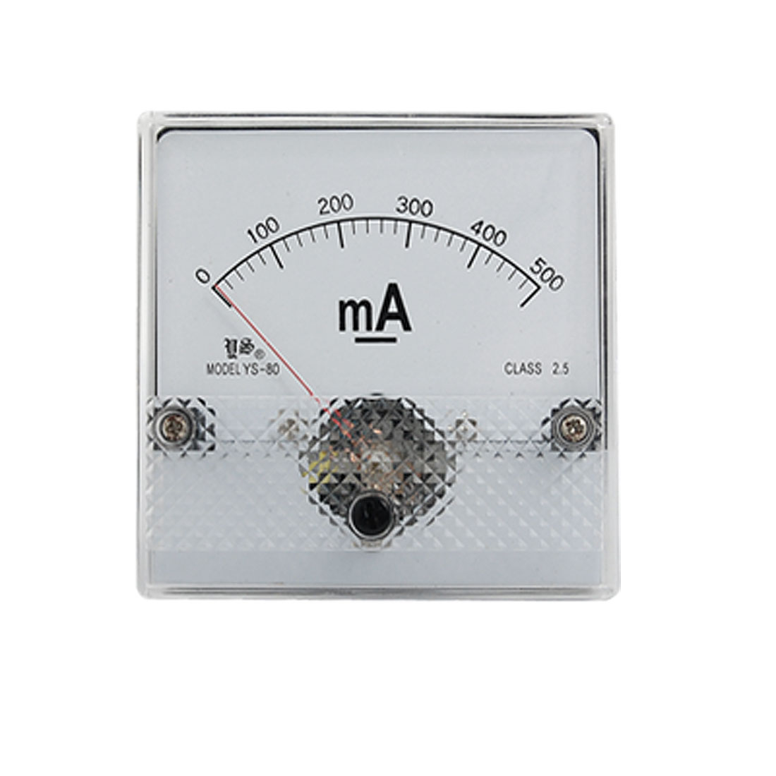 YS-80 DC 0-500mA Current Range Analog Panel Meter Ammeter