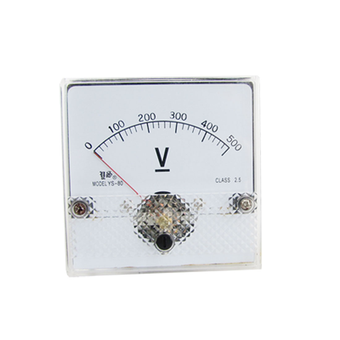 Fine Tuning Dial Analog Voltage Panel Meter Voltmeter DC 0-500V