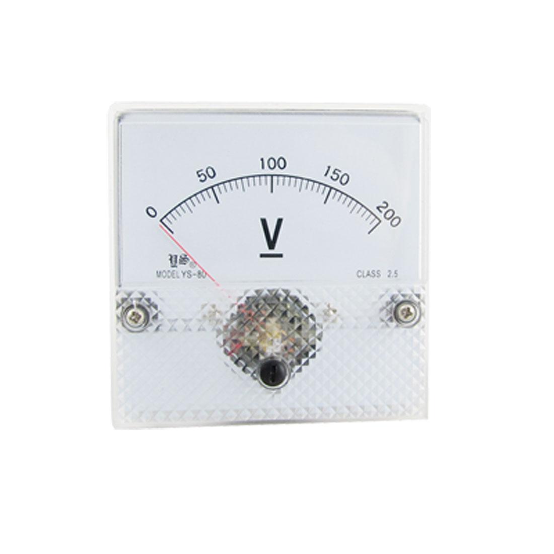 Class 2.5 Accuracy Voltmeter DC200V Panel Volt Meter