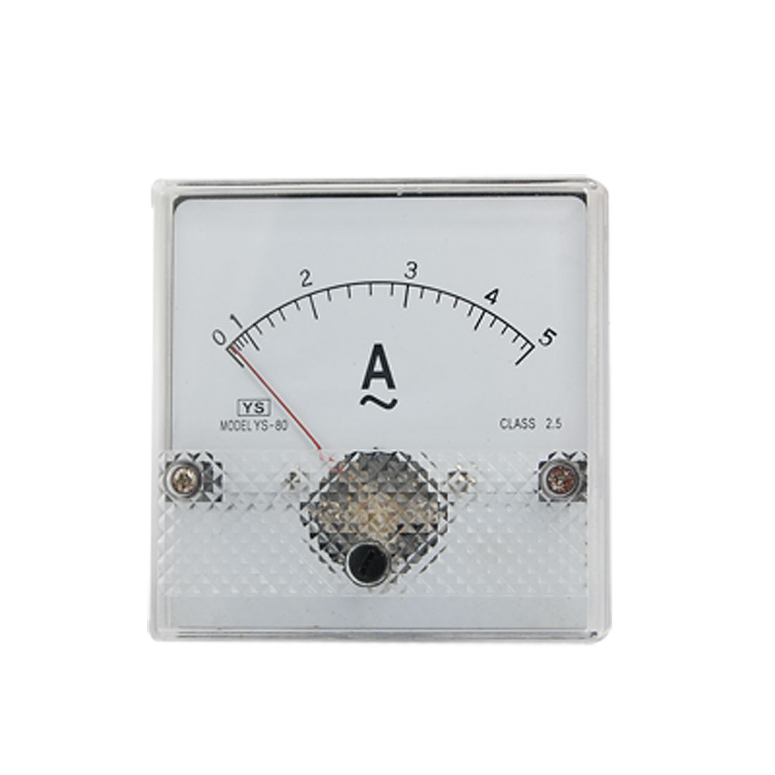 YS-80 Class 2.5 Accuracy Plastic Housed AC 0-5A Analog Ammeter