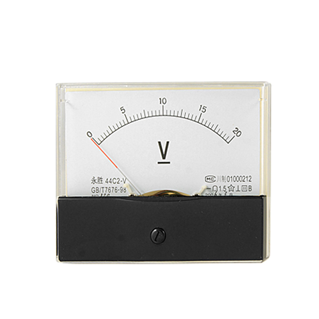 44C2 Fine Tuning 0-20V DC Voltage Panel Meter Analog Voltmeter Gauge