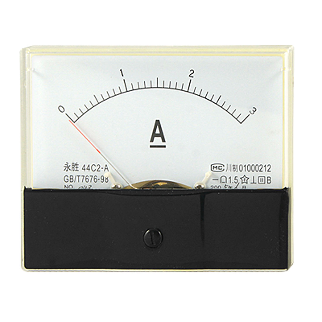 DC 0-3A Current Amperemeter Rectangle Panel Gauge 44C2
