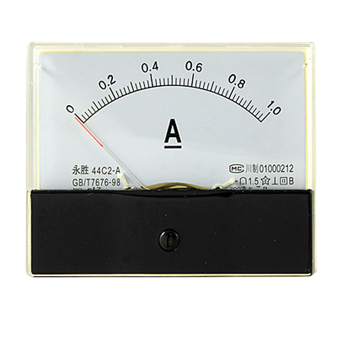 Analog DC 0-1A Current Rectangle Panel Amperemeter Gauge 44C2