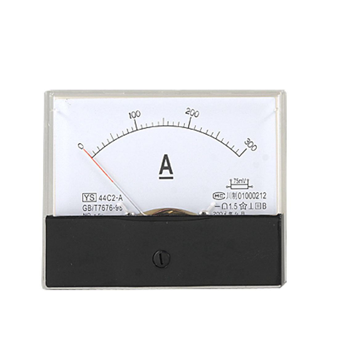 Screw Mount 0-300A DC Current Ampere Panel Meter Analog Gauge 44C2