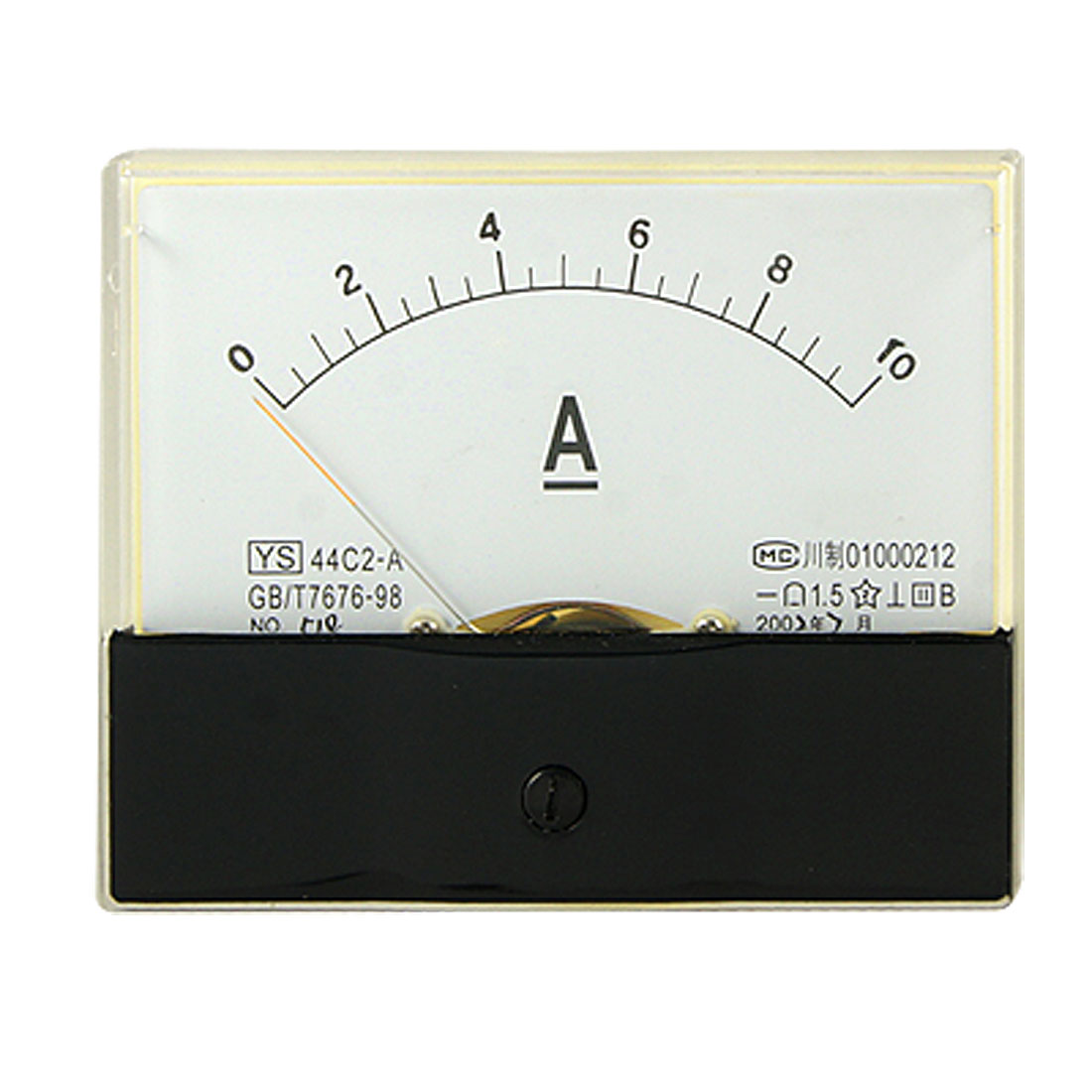 Analog DC 0-10A Current Ampere Meter Rectangle Panel Ammeter Gauge 44C2