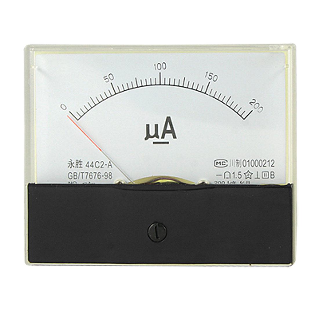 DC 0-200uA Current Analog Panel Meter Gauge Class 1.5