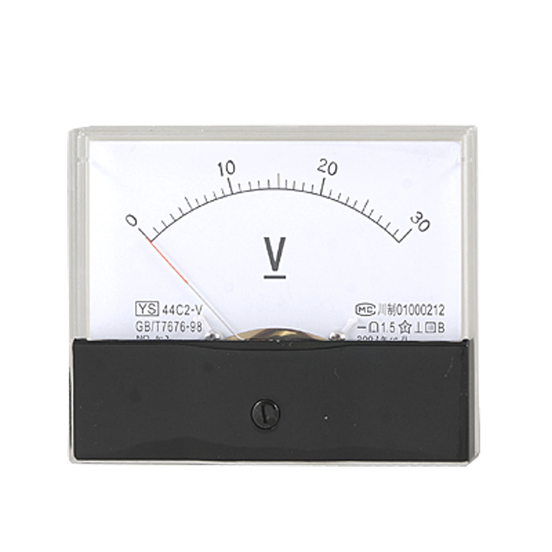 0-30V DC Voltage Measuring Panel Meter Analog Voltmeter Gauge 44C2