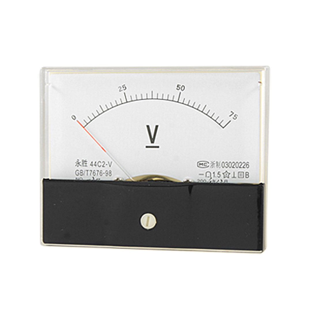 Analog 0-75V DC Voltage Measuring Gauge Panel Meter Voltmeter 44C2