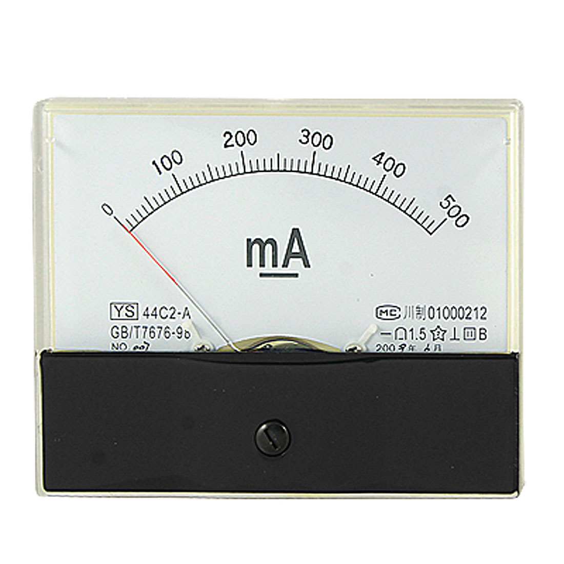 44C2 DC 0-500mA Current Power Panel Meter Analog Ammeter