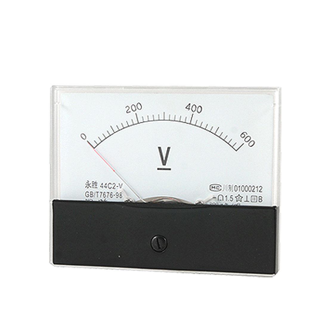 Class 1.5 Accuracy 0-600V DC Voltage Panel Meter Voltmeter Gauge 44C2