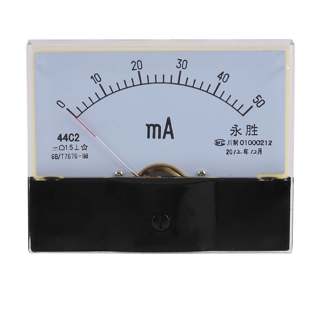 DC 0-50mA Current Testing Analog Panel Meter Amperemeter Gague