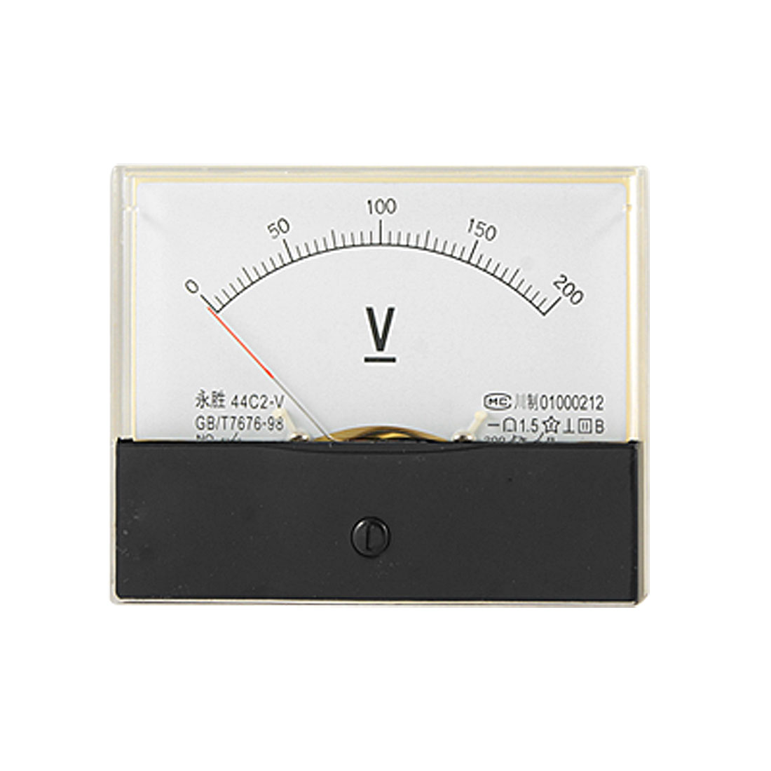 44C2 0-200V DC Voltage Meter Rectangle Panel Voltmeter Analog Gauge