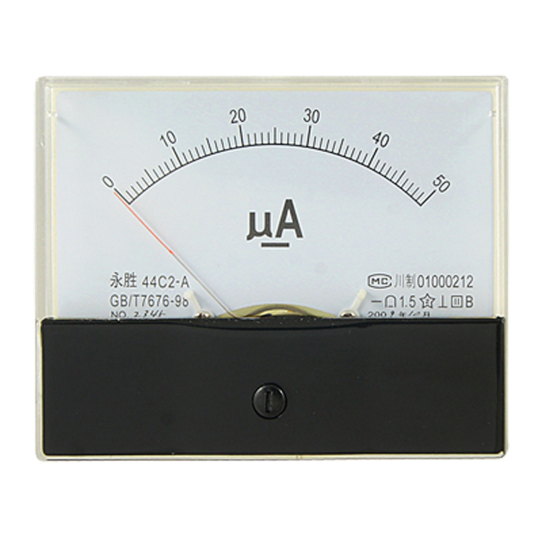 DC 0-50uA Scale Range Current Panel Meter Amperemeter Gauge