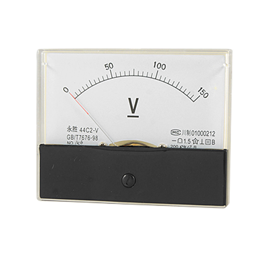 Class 1.5 Accuracy 0-150V DC Voltage Panel Meter Analog Voltmeter 44C2