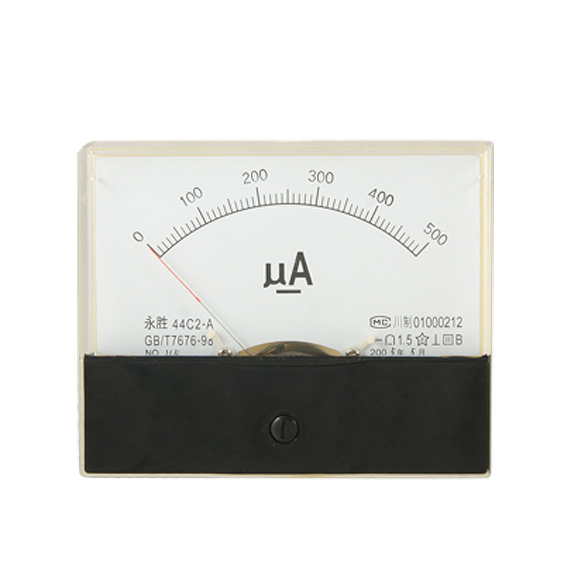 44C2 DC 0-500uA Current Testing Analog Panel Meter Amperemeter