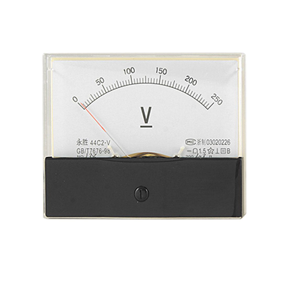 44C2 0-250V DC Voltage Measuring Analog Panel Meter Voltmeter