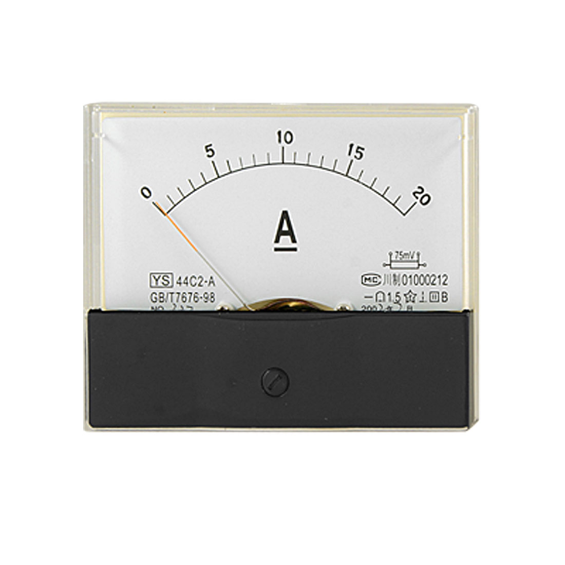 0-20A DC Current Ampere Meter Rectangle Panel Amperemeter Gauge 44C2