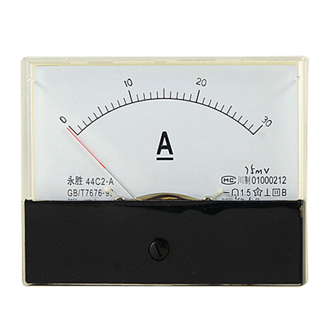 DC 0-30A Current Ampere Meter Rectangle Panel Ammeter Gauge 44C2