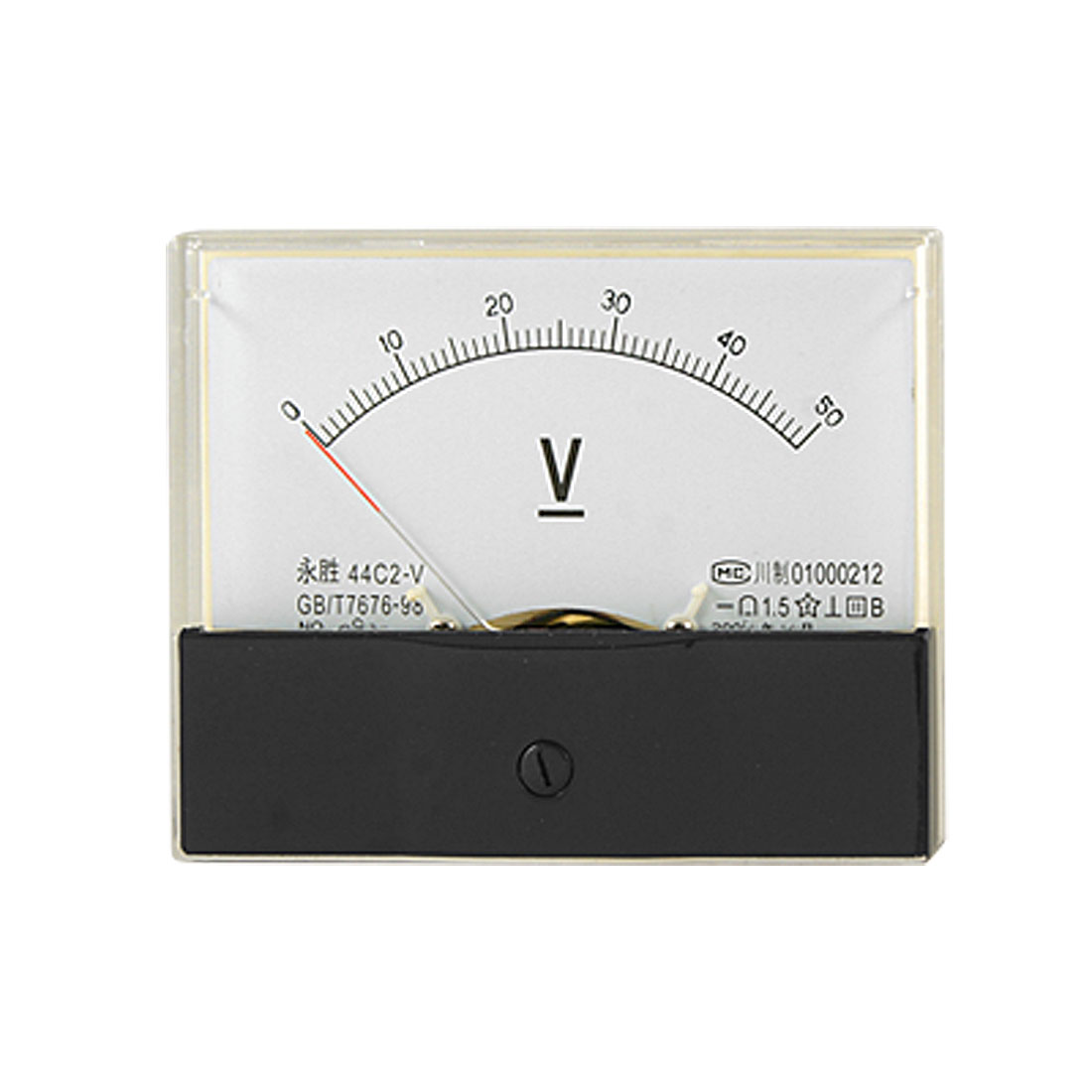 Class 1.5 Accuracy 0-50V DC Voltage Panel Meter Analog Voltmeter