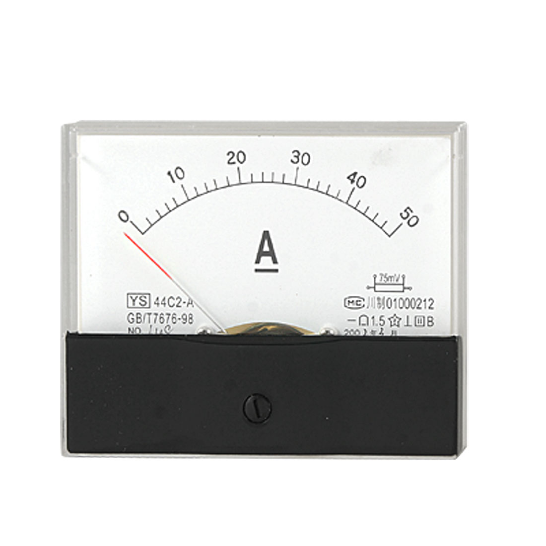 Analog DC 0-50A Current Rectangle Panel Metereremeter Gauge 44C2