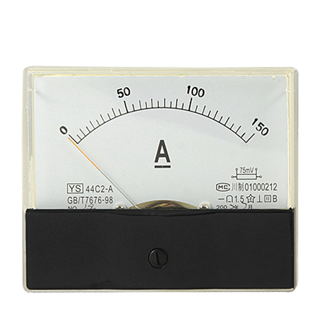 44C2 0-150A DC Current Panel Meter Amperemeter without 75mV Shunt