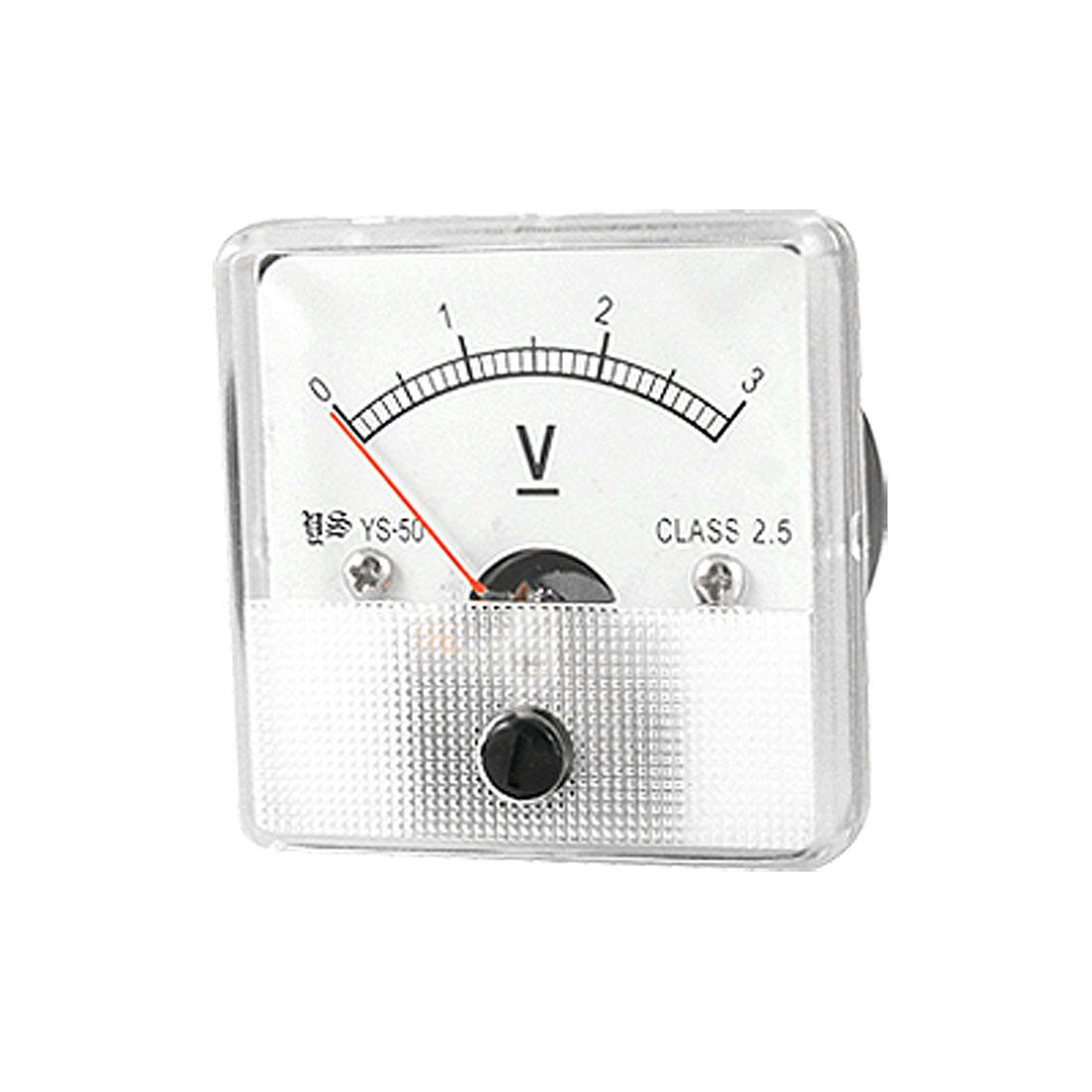 DC 3V Voltmeter Voltage Panel Meter w Installing Parts