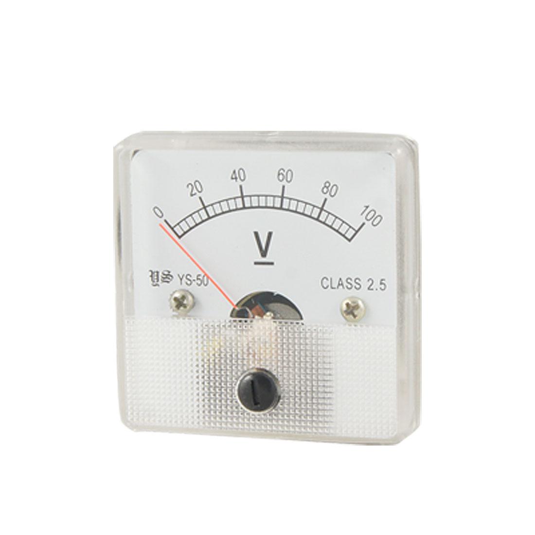 YS-50 Analog Voltage Volt Panel Meter DC 0-100V Voltmeter