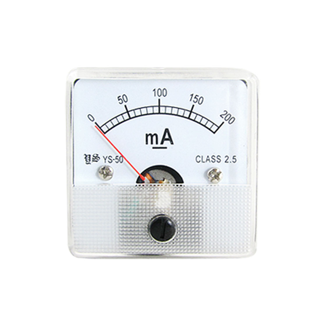Class 2.5 DC 0-200mA Analog Ampere Meter Measuring Head