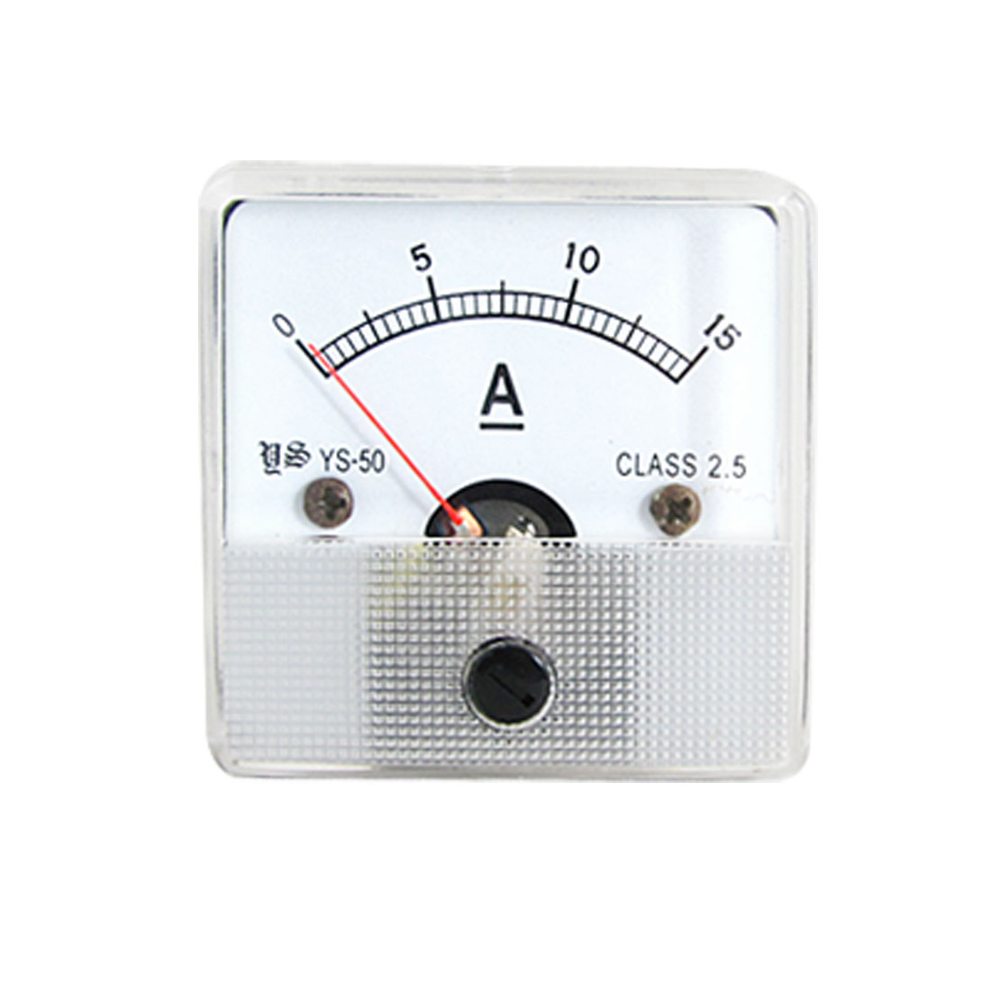 DC 0-15A Current Panel Meter Square Type Ammeter Gauge