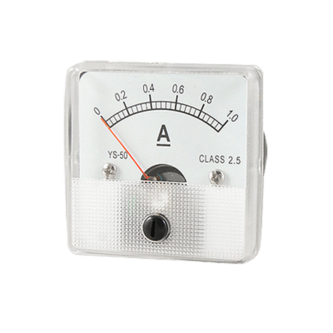 Class 2.5 Accuracy DC 1A Current Panel Meter Ammeter Analogue Gauge YS-50