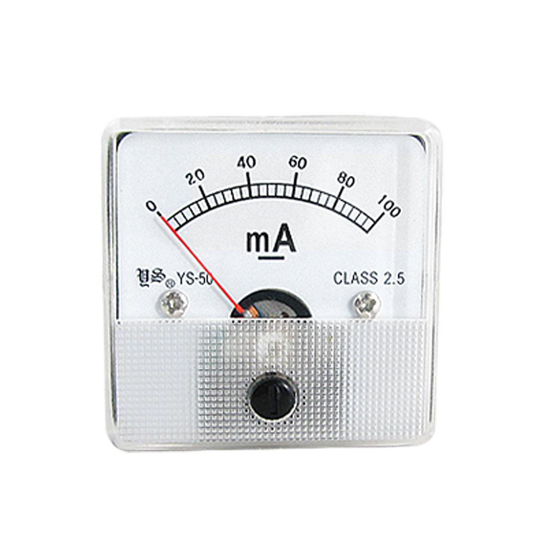 DC 0-100mA Square Face Analog Current Panel Meter Ammeter