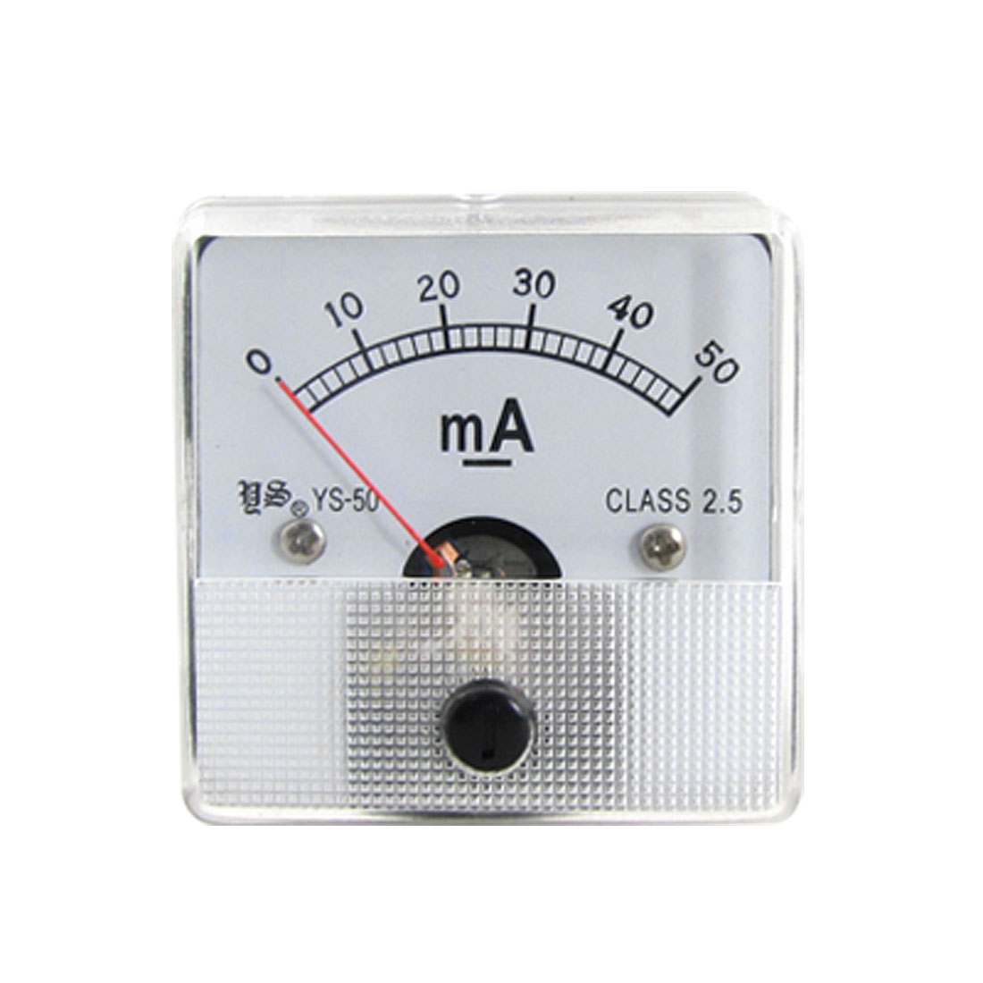 DC 0-50mA Current Measuring Class 2.5 Accuracy Panel Meter