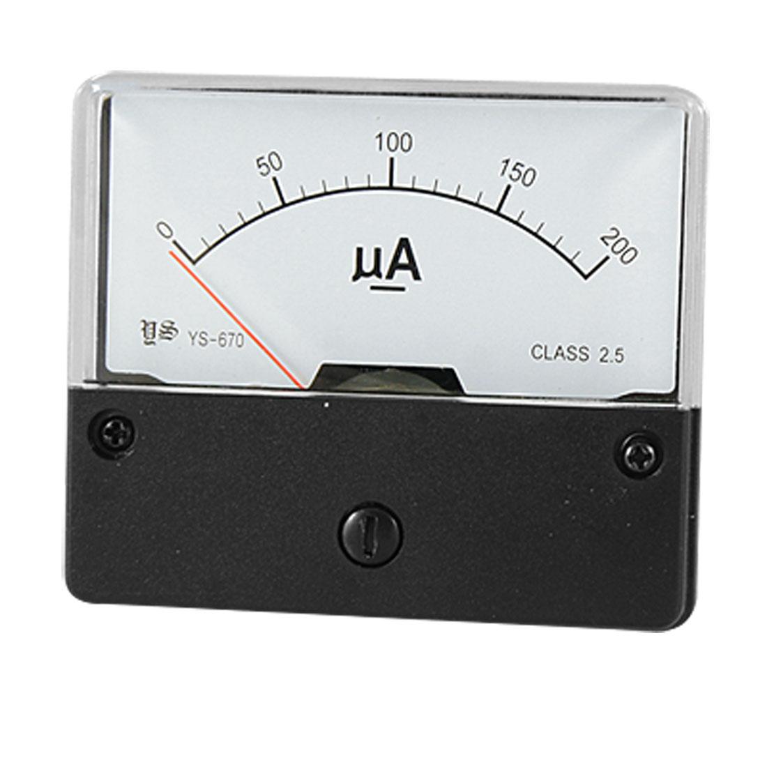 Analogue DC 0-200uA Current Panel Meter Measuring Tool