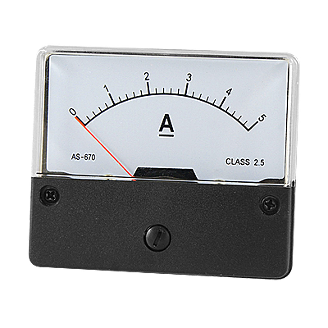 DC 0-5A Current Measuring Tool Panel Meter Amperemeter w Fitting Part